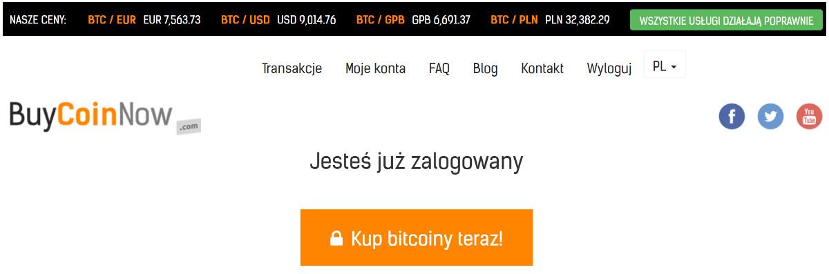 jak kupic bitcoin krok 1