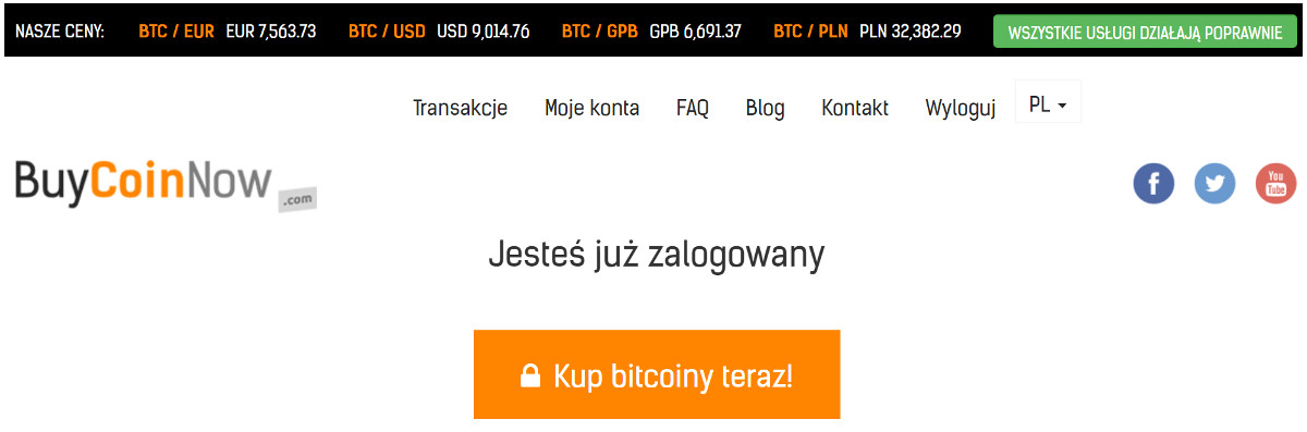 jak kupić bitcoin krok 1
