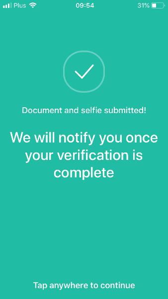 Weryfikacja konta na crypto.com krok 4