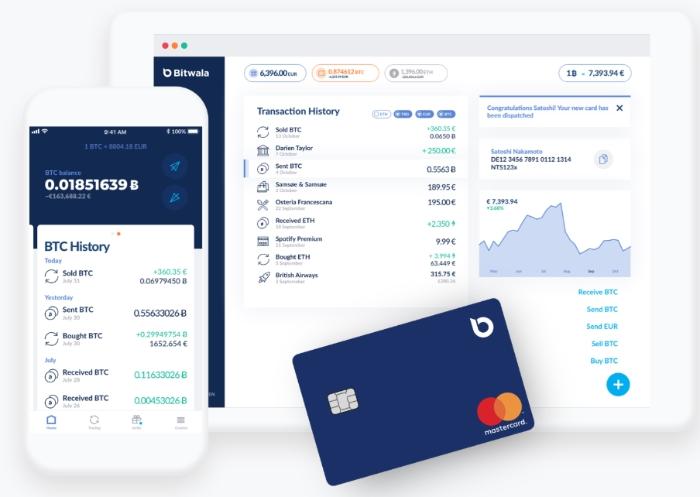 bitwala - połączenie banku i portfela kryptowalut
