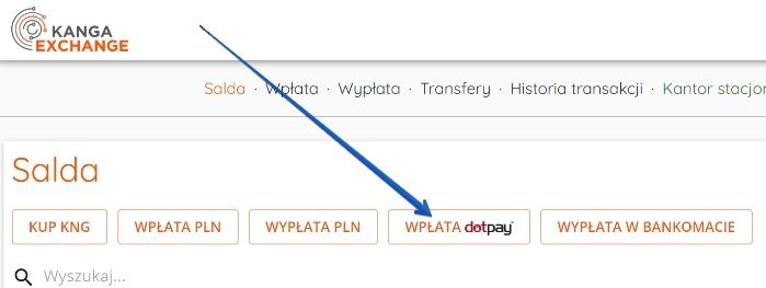 Szybkie wpłaty Dotpay w kanga exchange
