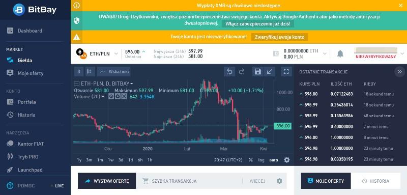 Zakup bitcoina na giełdzie kryptowalut krok 3