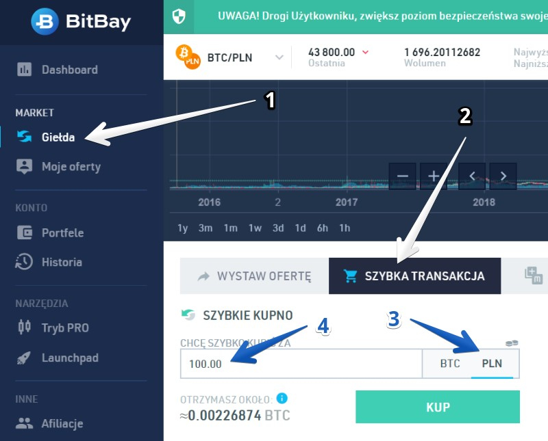 Początki z bitcoinem - wymiana na kryptowaluty 3