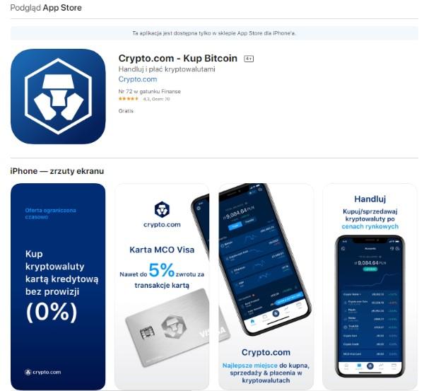 Opinie o crypto com na App Store