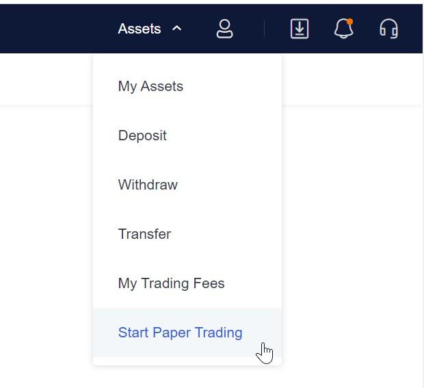 Paper trading na okex