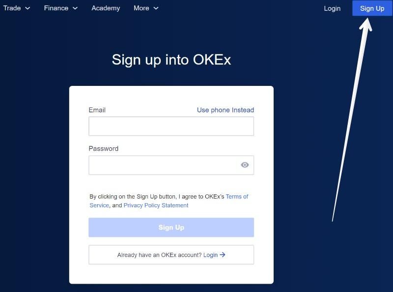 Rejestracja na okex