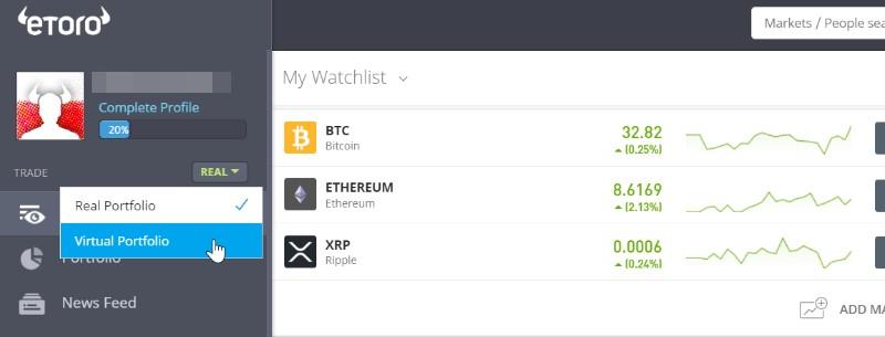 konto demo bitcoin na etoro